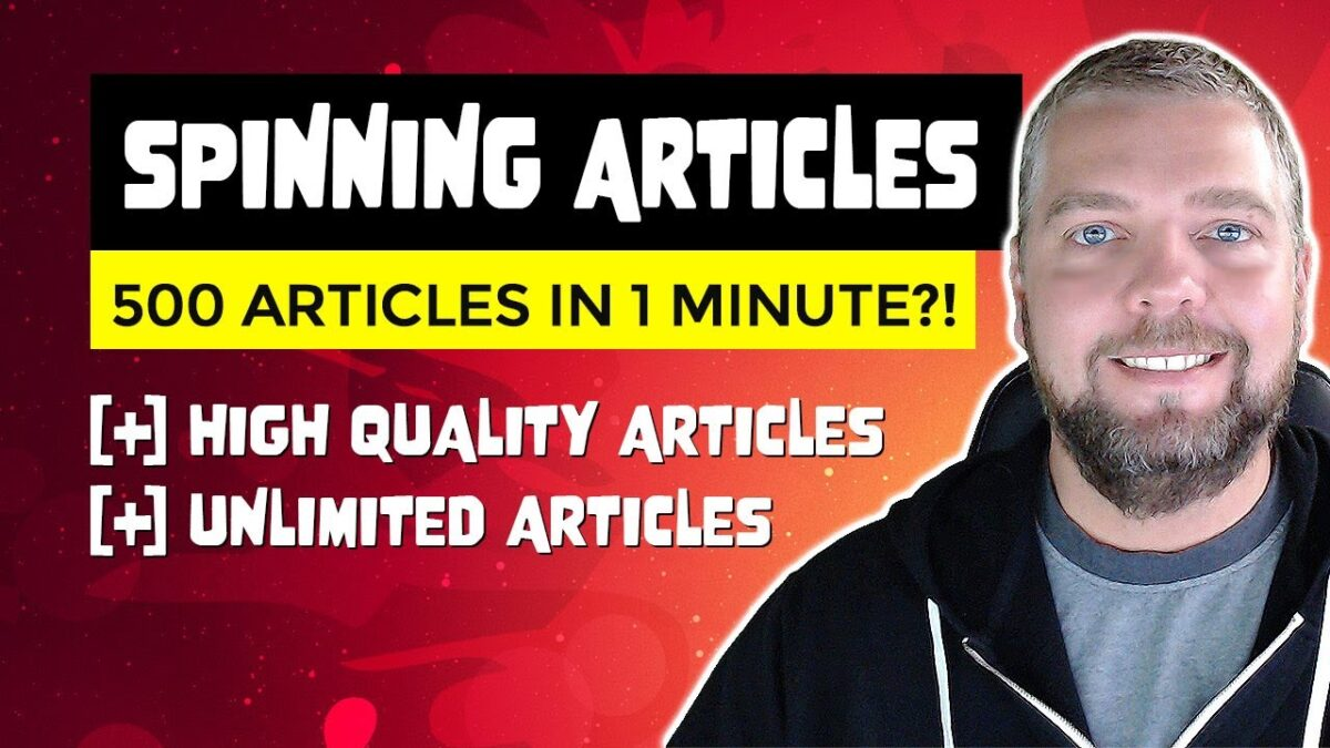 Article Rewriter Software: 500 HQ Articles in 1 Minute Spinner