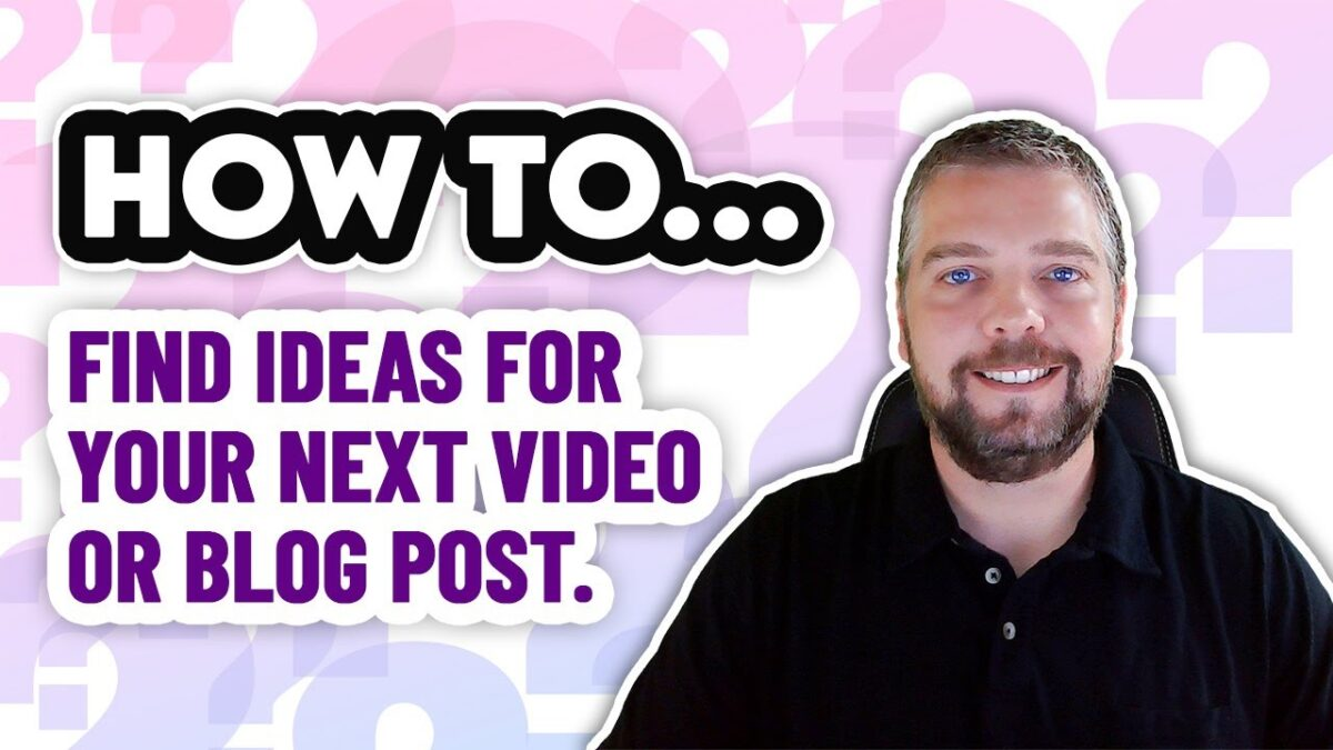 Content Ideas For YouTube And Blog Posts [FREE SOURCES]