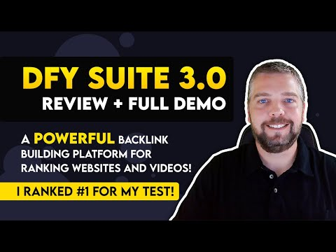 DFY Suite 3.0 Review and Demo | PROOF DFY Suite 3.0 Backlink Building