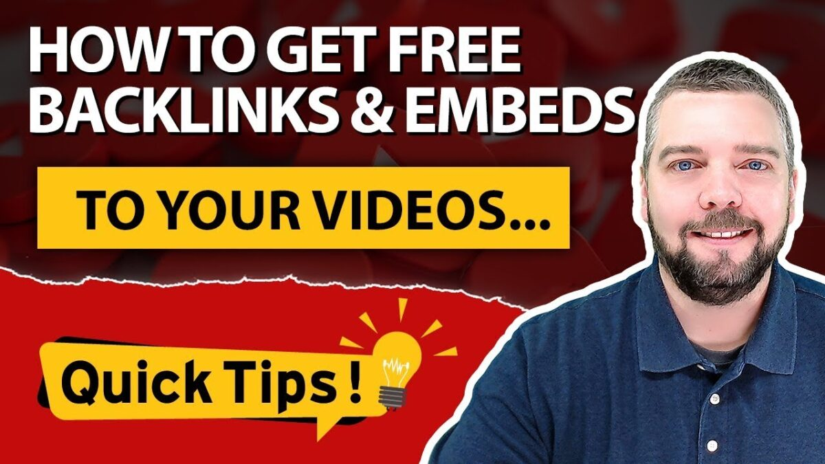 Rank Videos in Google With Free Backlinks and Embeds [HUGE TIP]