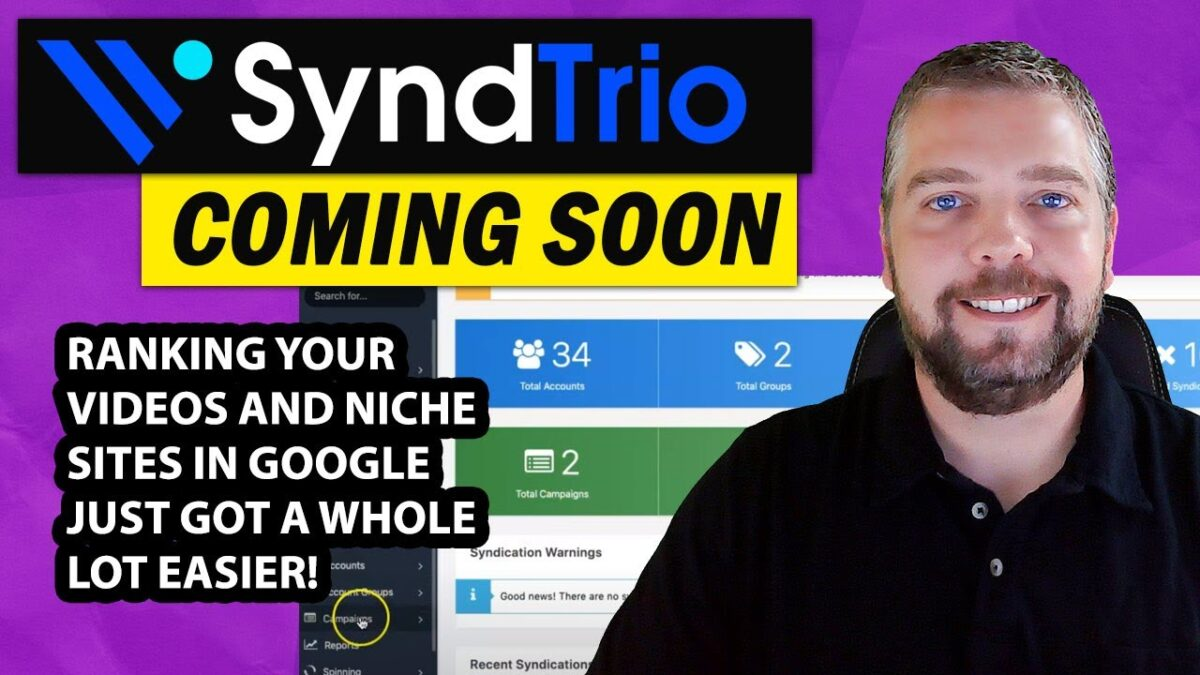 SyndTrio Review and Demo: SyndTrio Ranks Videos and Niche Sites