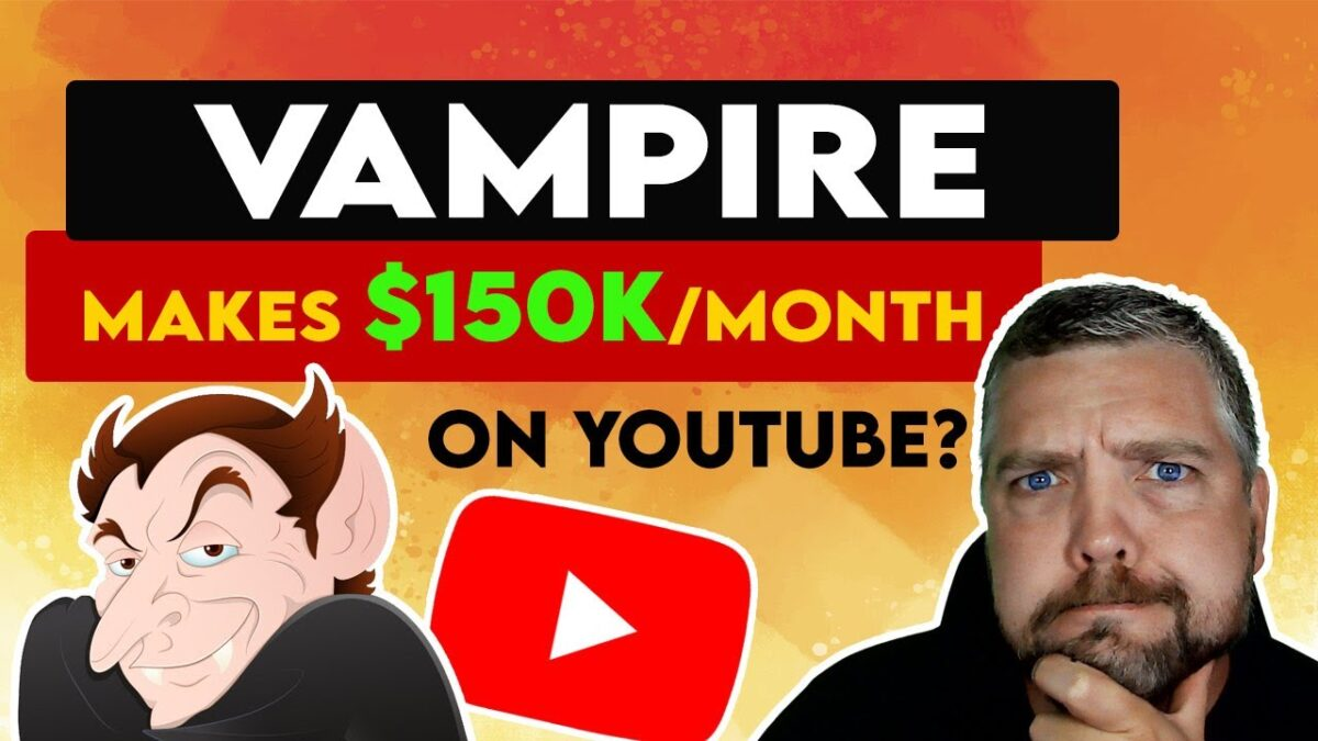 Vampire Makes $150K/Month With YouTube Shorts?
