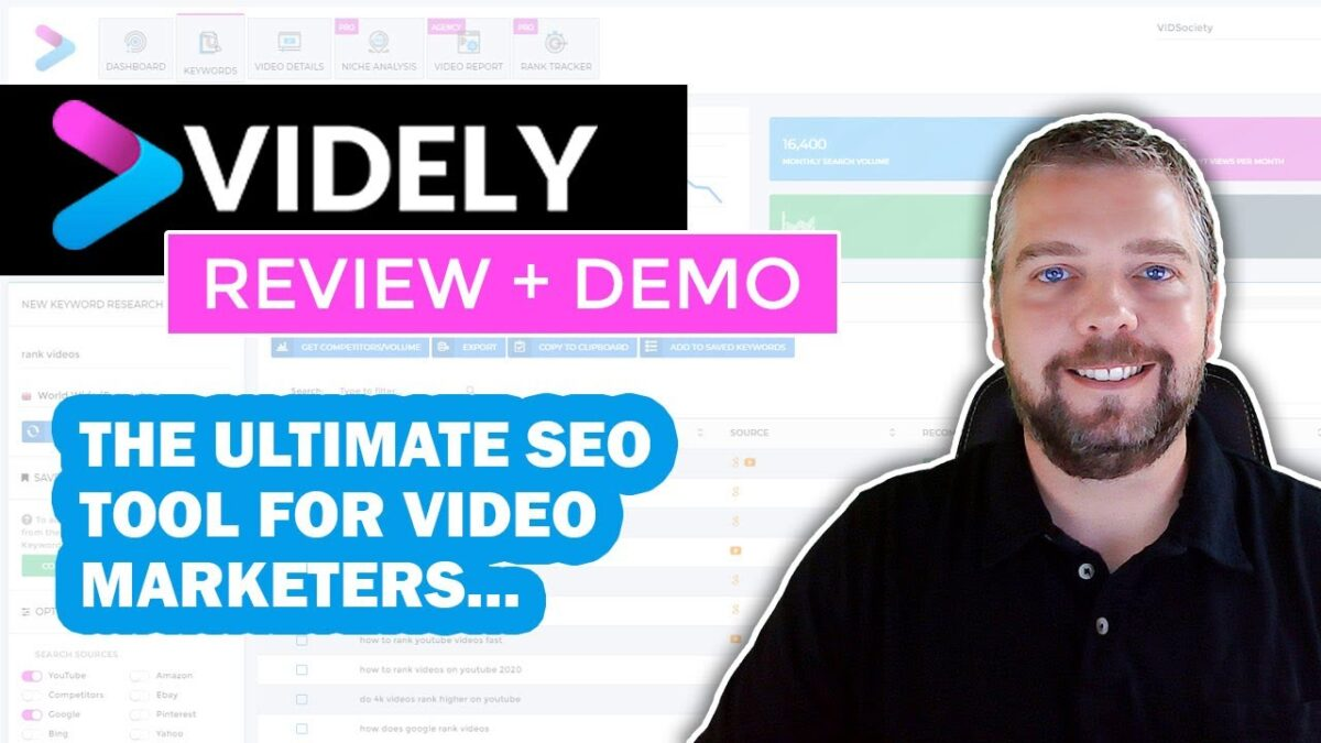 Videly Review & Demo: Rank Videos in YouTube & Google With Videly