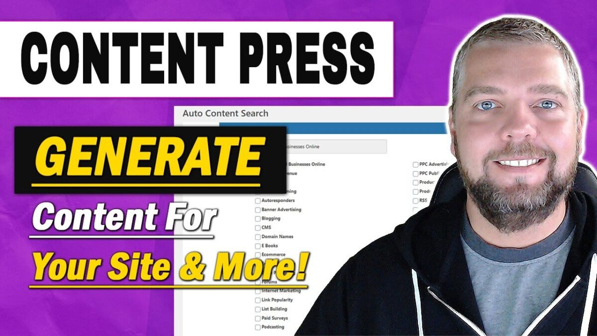 What is Content Press?  Watch My ContentPress Review & Demo