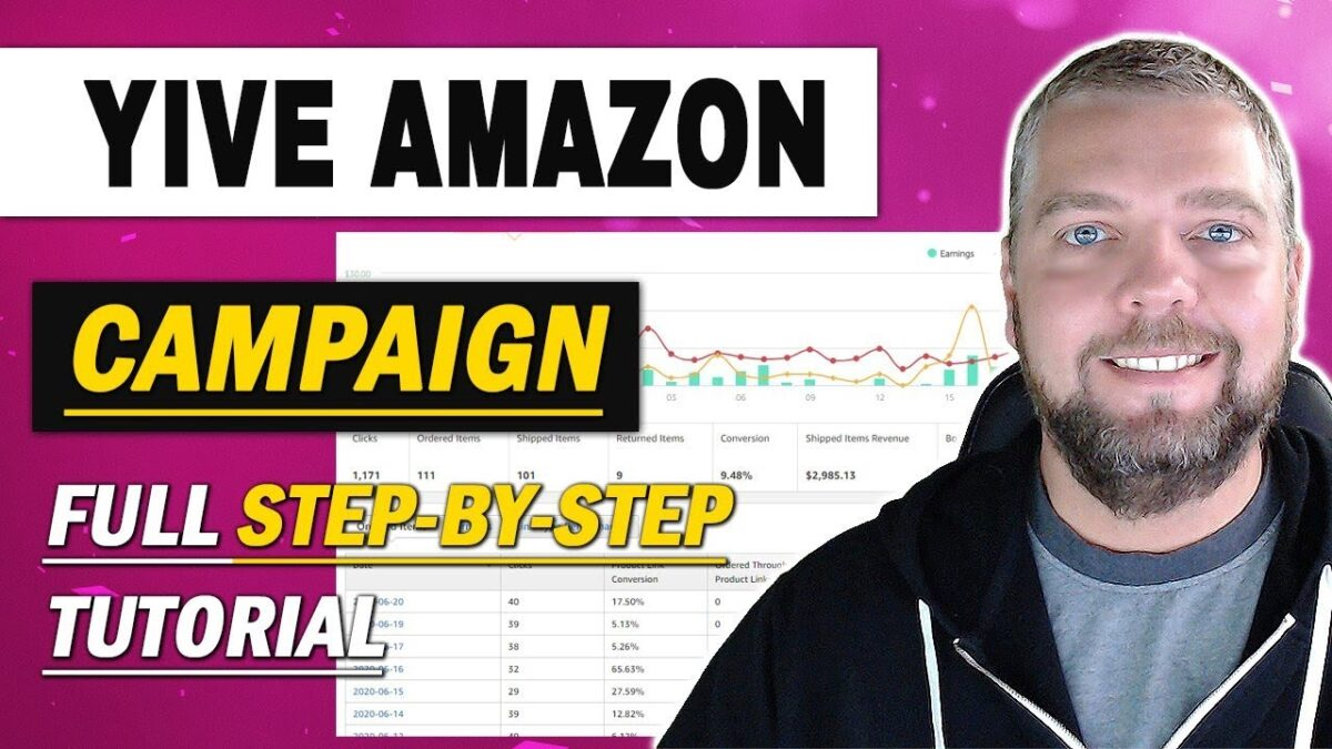 YIVE Amazon Campaign Setup With Earnings [STEP-BY-STEP]